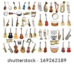 musical instruments isolated...   Shutterstock . vector #169262189