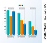 decreasing graph bar chart... | Shutterstock .eps vector #1692622429