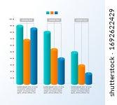 decreasing graph bar chart... | Shutterstock .eps vector #1692622429