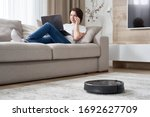 Robotic Vacuum Cleaner Cleaning ...