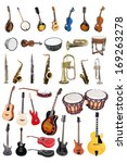 the image of music instruments... | Shutterstock . vector #169263278