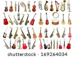 musical instruments isolated... | Shutterstock . vector #169264034