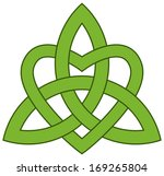 3 point celtic trinity knot ... | Shutterstock .eps vector #169265804