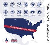 usa map with coronavirus... | Shutterstock .eps vector #1692662869