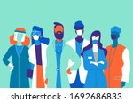 medical team  doctors and... | Shutterstock .eps vector #1692686833
