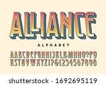 alliance alphabet  a lettering... | Shutterstock .eps vector #1692695119