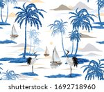 beautiful tropical vector... | Shutterstock .eps vector #1692718960