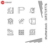 pack of 9 creative outlines of... | Shutterstock .eps vector #1692719776