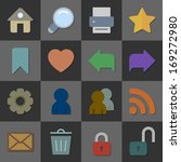 collection of internet icons of ...