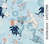 kimono background with crane... | Shutterstock .eps vector #169272986