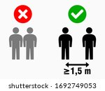 social distancing at least 1 5... | Shutterstock .eps vector #1692749053
