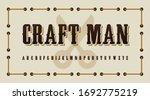 vinatge craftman theme...   Shutterstock .eps vector #1692775219