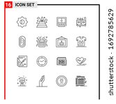16 thematic vector outlines and ...