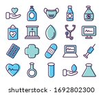 cardio hearts and healthcare... | Shutterstock .eps vector #1692802300