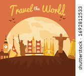 travel to world. road trip.... | Shutterstock .eps vector #1692812533
