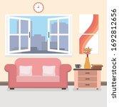interior of the living room. | Shutterstock .eps vector #1692812656