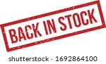 back in stock rubber stamp. red ... | Shutterstock .eps vector #1692864100