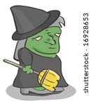 witch   Shutterstock .eps vector #16928653