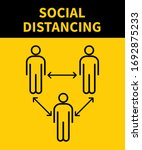 social distancing icon. keep... | Shutterstock .eps vector #1692875233