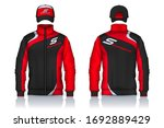 delivery uniform jacket and cap ...   Shutterstock .eps vector #1692889429