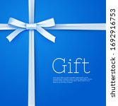 glossy gift bow from silk thin...   Shutterstock .eps vector #1692916753