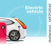eco friendly electric car is... | Shutterstock . vector #1692918163