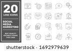 smm icons set collection....   Shutterstock .eps vector #1692979639