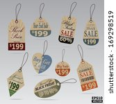 sale tags and price tags... | Shutterstock .eps vector #169298519