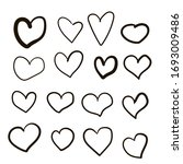 set of vector drawings of... | Shutterstock .eps vector #1693009486