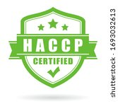 haccp certified vector icon... | Shutterstock .eps vector #1693032613