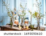 Table Decorated For Easter ...