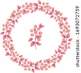 vector berry wreath  pink berry ... | Shutterstock .eps vector #1693072759