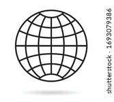 simple grid globe icon on white ...   Shutterstock .eps vector #1693079386