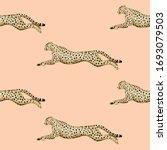 vintage running cheetah animal... | Shutterstock .eps vector #1693079503