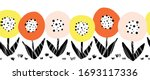 Seamless Flower Vector Border....