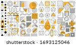 set of 100 geometric shapes.... | Shutterstock .eps vector #1693125046