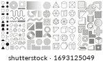 set of 100 geometric shapes.... | Shutterstock .eps vector #1693125049