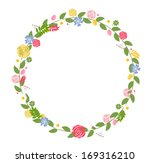 floral frame for wedding and... | Shutterstock .eps vector #169316210