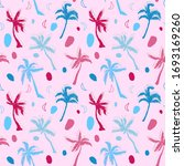 palm tree abstract pattern... | Shutterstock .eps vector #1693169260