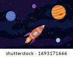 space background with stars ... | Shutterstock .eps vector #1693171666