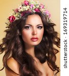 young beauty with wreath of... | Shutterstock . vector #169319714