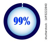 blue percentage diagram for...