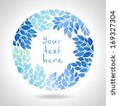 round floral frame | Shutterstock .eps vector #169327304