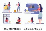 woman in mother daily routine... | Shutterstock .eps vector #1693275133
