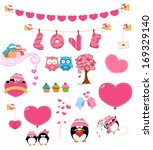 love set  | Shutterstock .eps vector #169329140