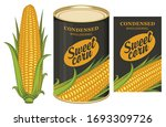 vector banner for canned sweet... | Shutterstock .eps vector #1693309726