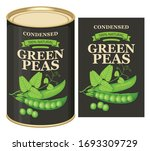 vector banner for canned green... | Shutterstock .eps vector #1693309729