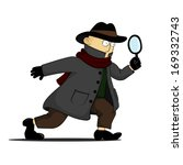 detective investigating with a... | Shutterstock .eps vector #169332743