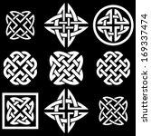 celtic quaternary knots set.... | Shutterstock .eps vector #169337474