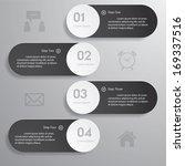 design clean number banners... | Shutterstock .eps vector #169337516